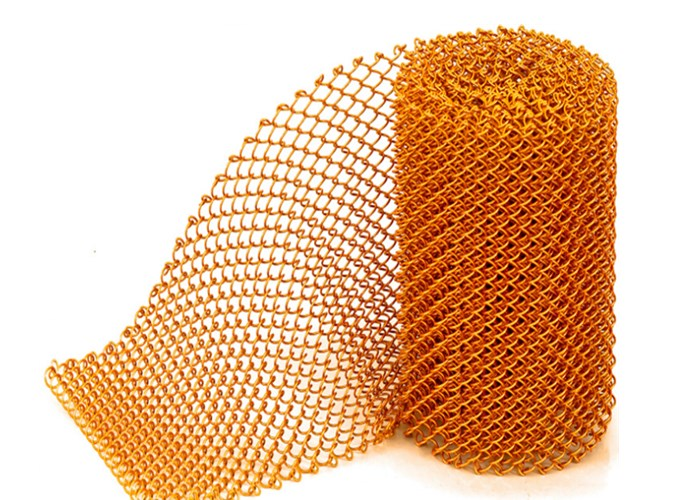 Anodic Oxidation Finished Aluminum Coil Mesh